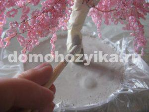 Сакура из бисера своими руками