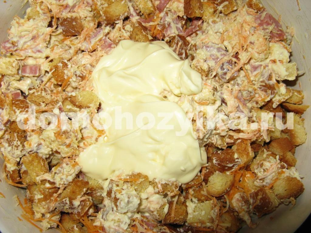 салат невеста рецепт с фото с копченой курицей и