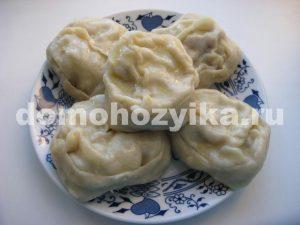рецепт манты с фаршем и картофелем