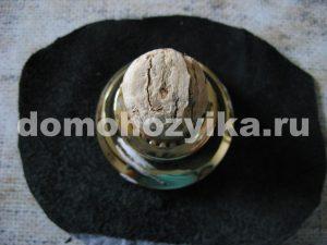 Декор бутылок под мрамор