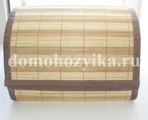 Хлебница из бамбуковых салфеток
