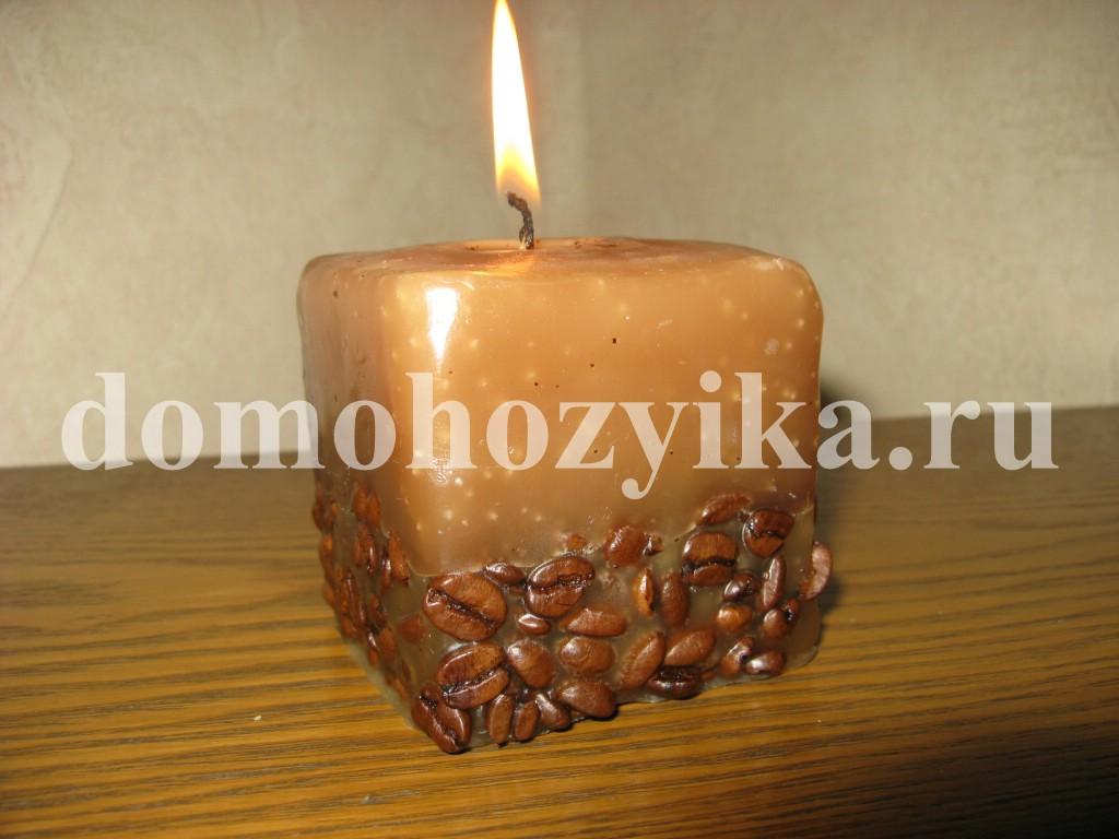Свечи своими руками из кофейных зерен своими руками