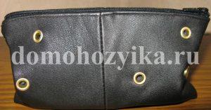 Кожаный кошелек косметичка своими руками
