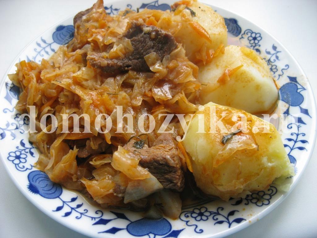 Бигус из свежей капусты с рисом 6