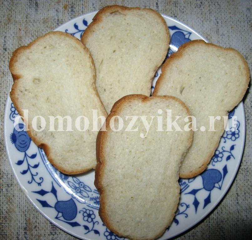 Рецепт: Горячие Бутерброды С Колбасой И Сыром