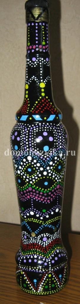 Роспись бутылки своими руками