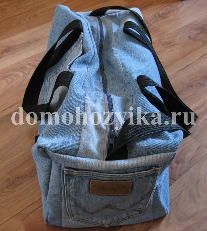 64e0bf9a8a7a Предлагаю вариант как сшить сумку из джинсов. У меня получилась удобная,  вместительная, спортивная сумка. Шьется легко и быстро.