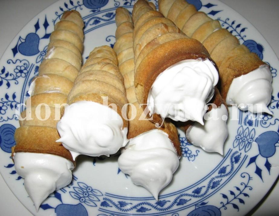 Как сделать тесто для трубочек с кремом 965