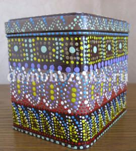 Декор жестяной банки в африканском стиле
