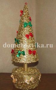 Новогодняя елка из макарон своими руками