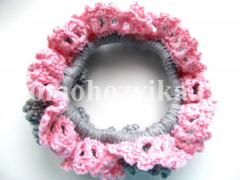 Вязание крючком резинка для волос