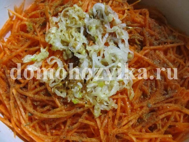 Салат корейская морковь печень грибы