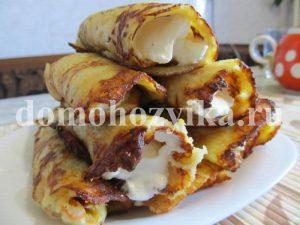 Картофельные трубочки со сметаной