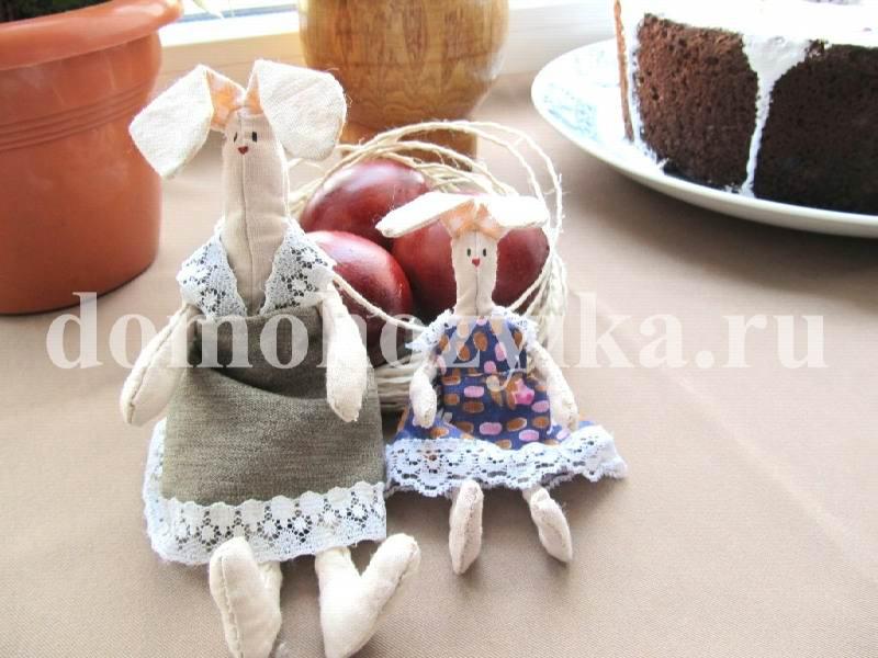 Новогодние зайцы своими руками