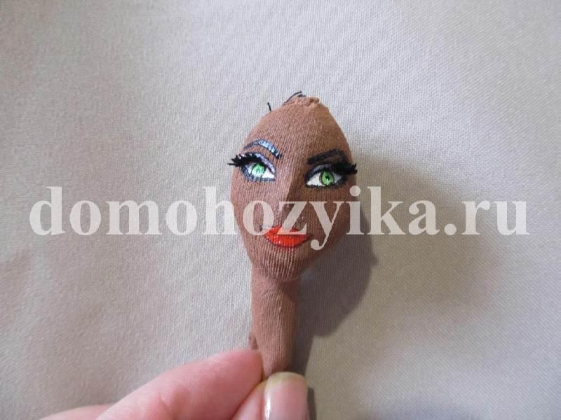 Кукла лицо своими руками
