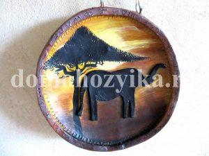 Тарелка из глины «Сафари»