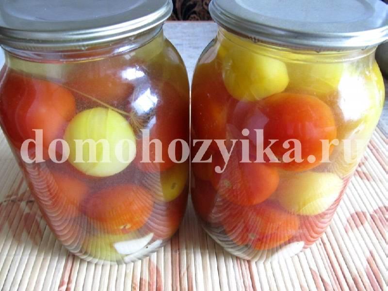 Консервированные помидоры черри на зиму