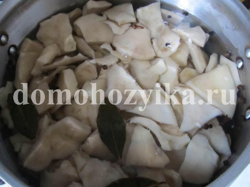 Рецепт маринованных груздей пошагово