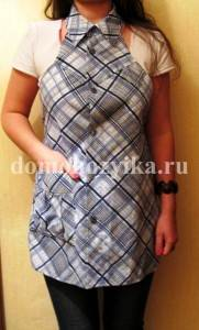 Вторая жизнь мужской рубашки Fartuk-iz-rubashki_10-181x300