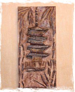 Барельеф своими руками «Пагода»