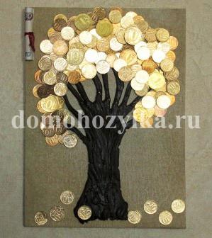 Фото дерево с монетами своими руками