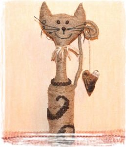 Кот из шпагата своими руками 29