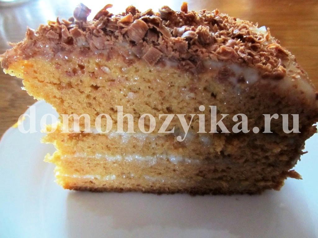 Торт рыжик в мультиварке рецепт с фото