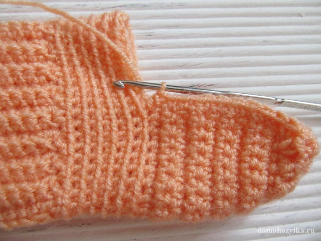 Вязание резинка для носков 607
