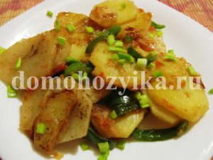 Жареная картошка с болгарским перцем