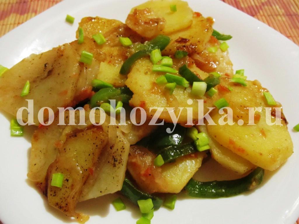 Рецепт картошка жаренная с перцем