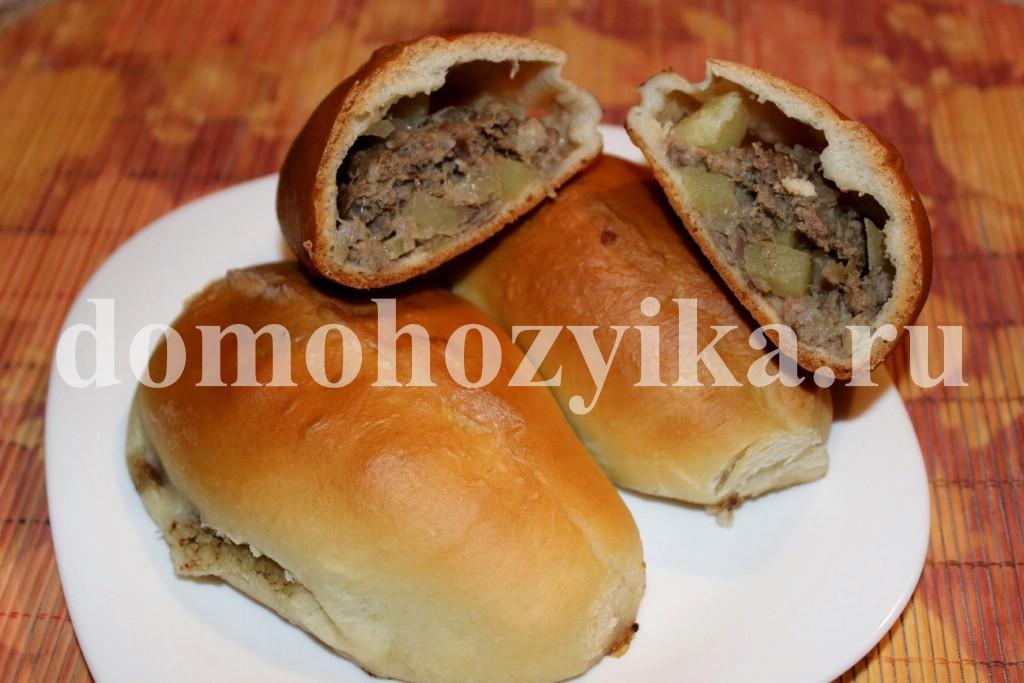пирожки с картошкой и мясом в духовке рецепт