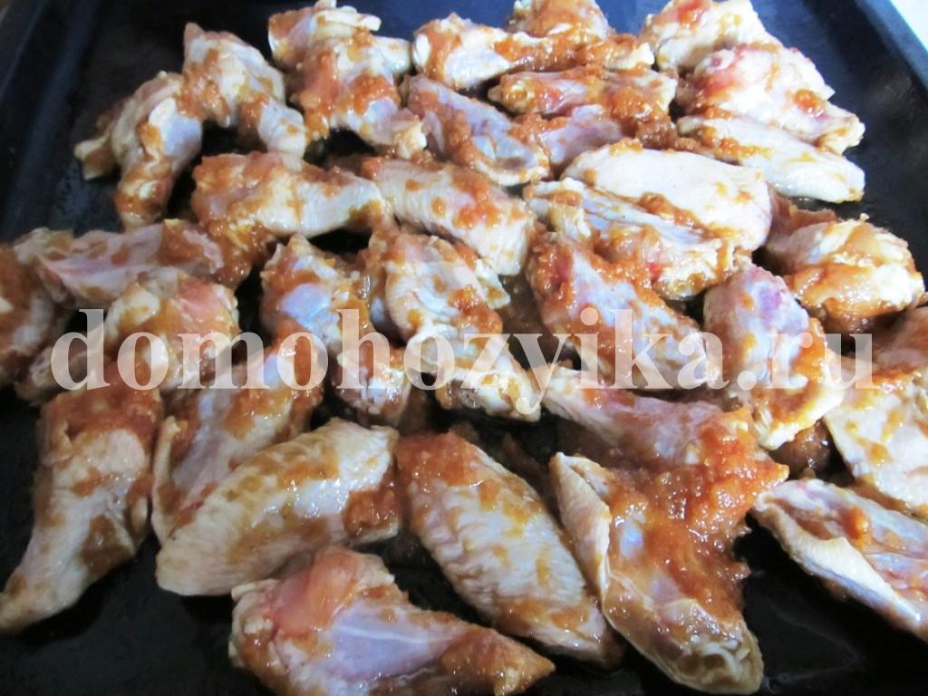 рецепт крылышек в духовке к пиву с фото