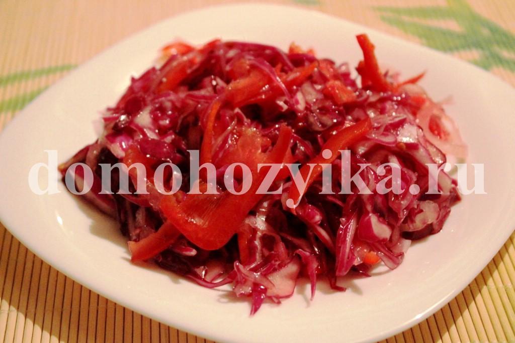 Блюда из красной капусты рецепты с фото