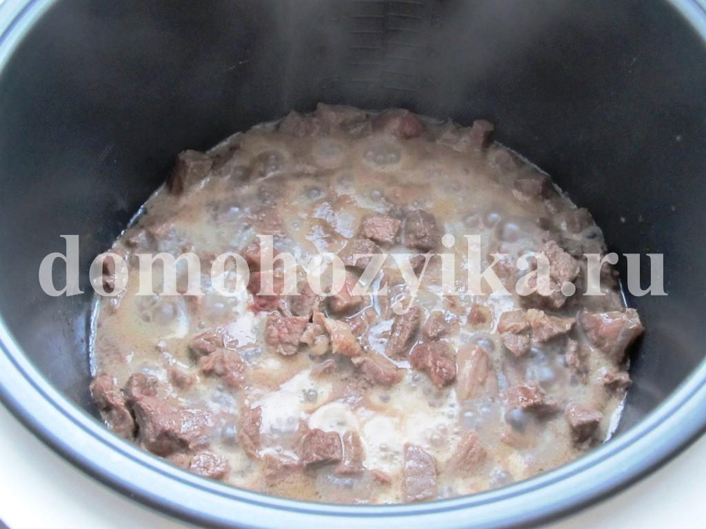 мясо в мультиварке пошаговый рецепт