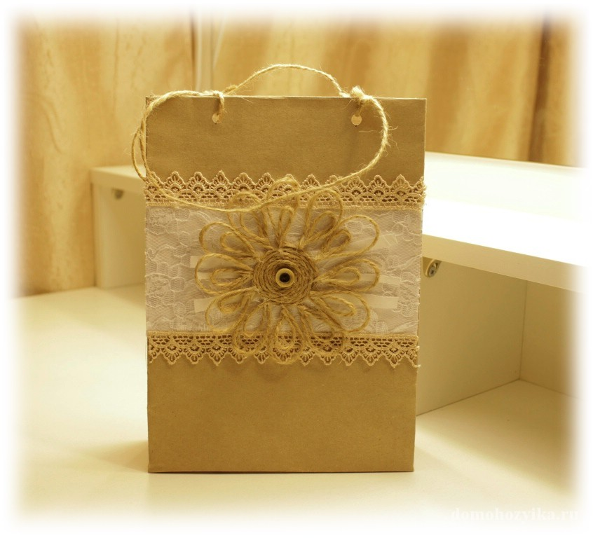 Подарунковий пакетик своими руками - Opalubka-Pekomo.ru