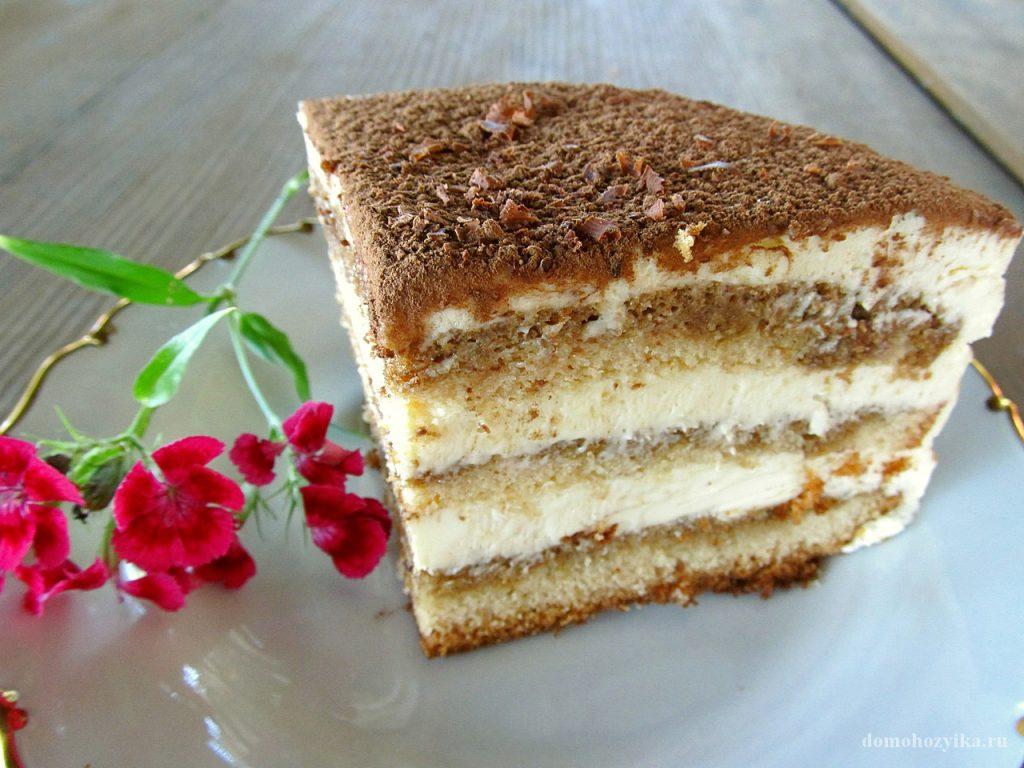 Бисквитный торт тирамису рецепт с фото