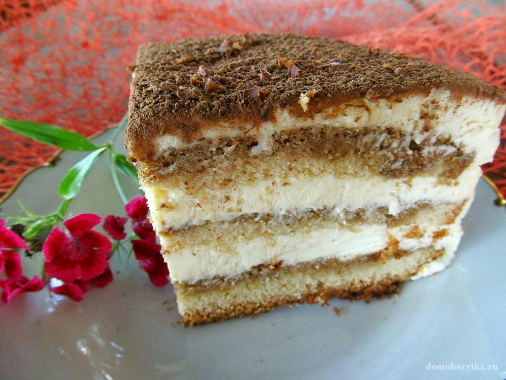 Тирамису с бисквитом рецепт с фото