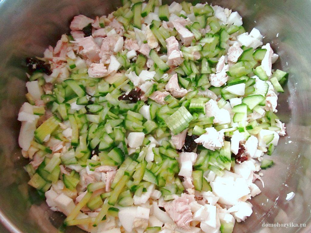 салаты с черносливом с фото